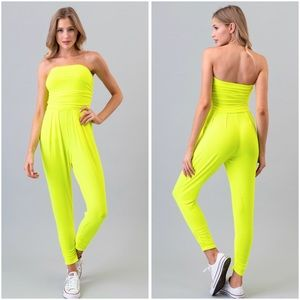 🆑BUY 2 GET 1 FREE Neon lime green jumpsuit